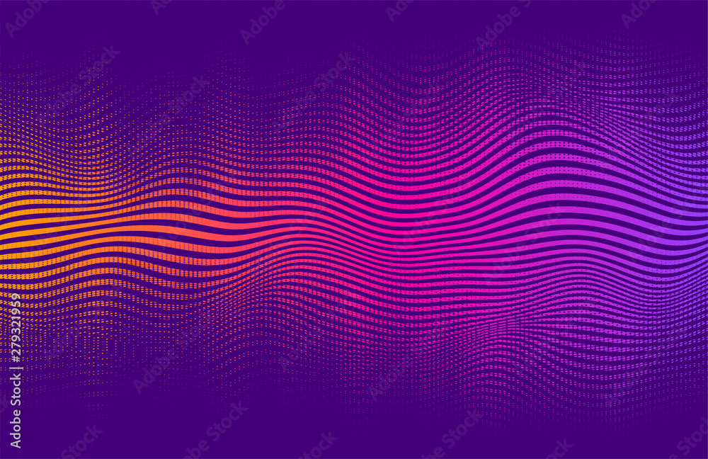 Fototapety, obrazy: Abstract halftone gradient . Vector vibrant background, with blending colors and textures.