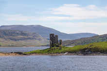 Ardvreck Castle Im Loch Assynt, Schottland