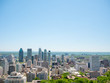 Scenic view of Montreal, Canada, in the middle of summer