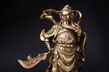 Statue Of Kwnao Guanyu On Blac...