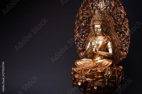 Bodhisattva Guan Yin sitting in the lotus position. Canvas Print