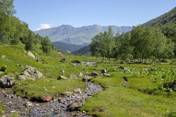 Fototapeta na wymiar the Caucasus mountains Arkhyz in Sunny day