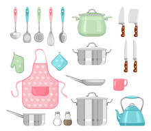 Set Of Kitchen Utensils. Vecto...