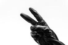 Female Hand Turned Back In Bla...