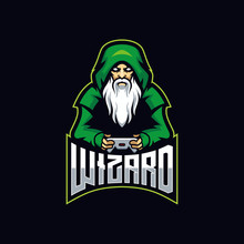Wizard Gaming E Sport Logo. Witch Gaming Vector