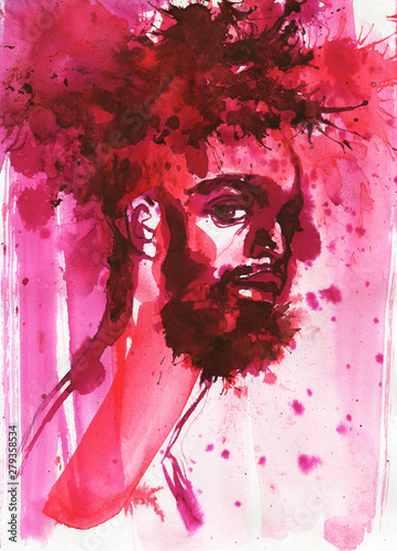 Photo  Watercolor african man