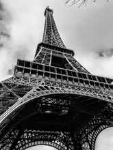 Black And White Eiffel Tower