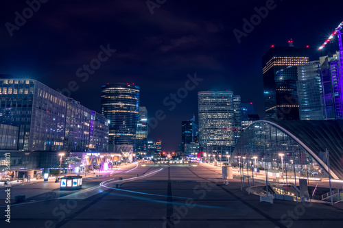 Fotografie, Obraz  Pedestrian Square Surrounded by Night Skyscrapers