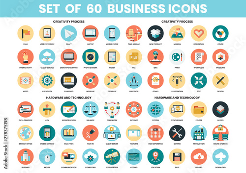 Fototapeta Business icons set for business obraz
