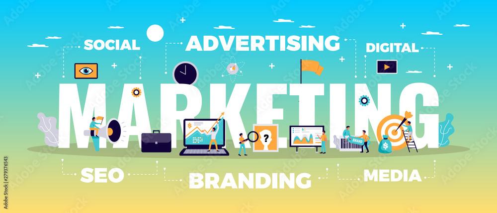 Fototapeta Digital Marketing Concept