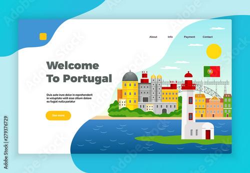 Obraz na plátně  Explore Portugal Page Design