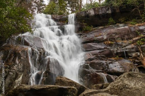 Платно Ramsey Cascades waterfall in Great Smoky Mountains National Park