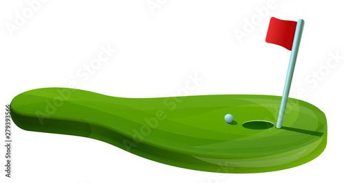 Golf field concept banner. Cartoon illustration of golf field vector concept banner for web design - 279393566