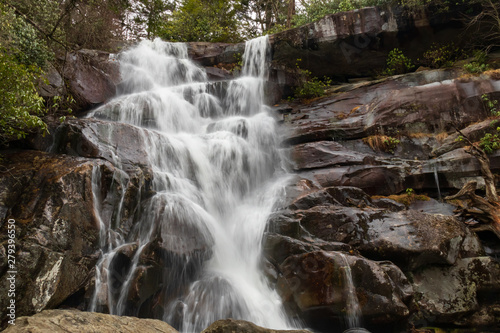 Ramsey Cascades waterfall in Great Smoky Mountains National Park Canvas Print