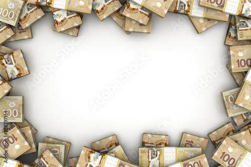 Obraz na płótnie Frame with Canadian Dollar