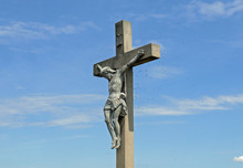 Ungewöhnlich Szene, Wespenstaat Zwischen Jesusfigur Und Kreuz