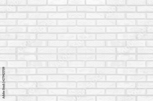 Photo sur Toile Brick wall White brick wall texture for background or wallpaper. Abstract interior decoration vintage style.
