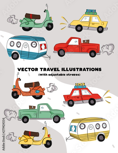 Photo Vector Travel Illustrations