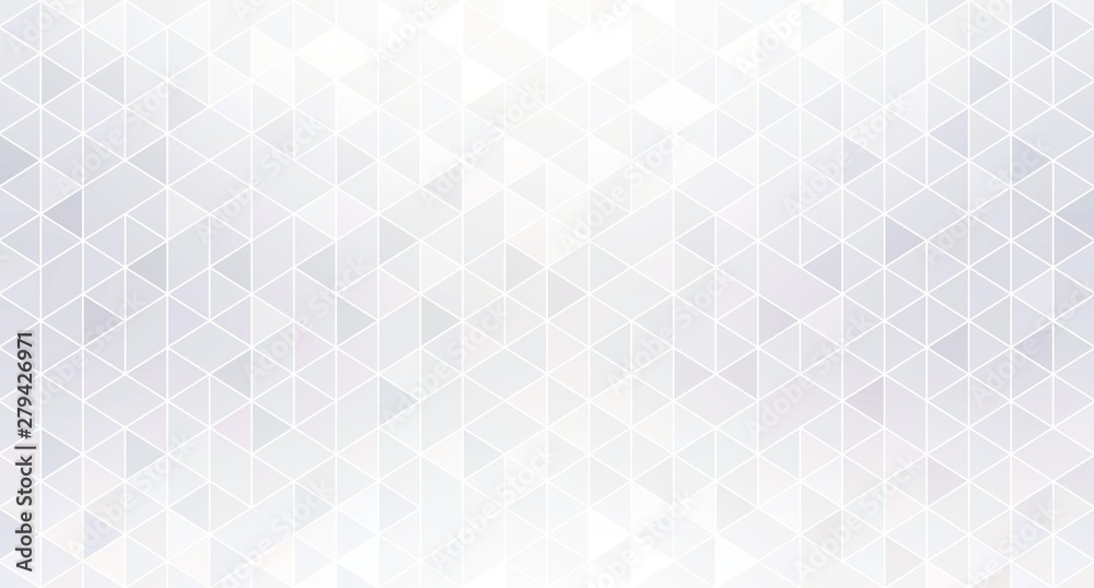 Fototapety, obrazy: Shiny geometric white abstract background. Shimmer mosaic subtle wallpaper.