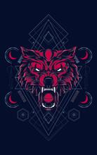 Wild Wolf Head Logo Illustrati...