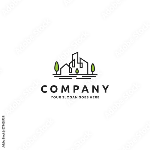Home House Real Estate Building City Logo Design Inspiration Buy This Stock Vector And Explore Similar Vectors At Adobe Stock Adobe Stock
