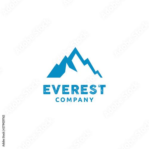 Photographie Minimalist Modern Everest Mountain logo design