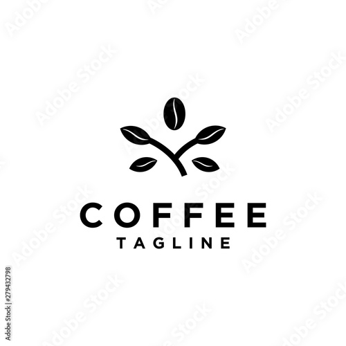 Photo Stands Owls cartoon coffee beans organic, coffee shop logo design