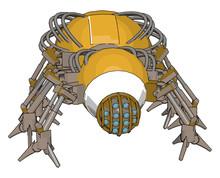Yellow Robot Bug, Illustration...