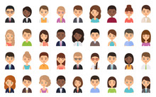 People Faces. Avatar Character...
