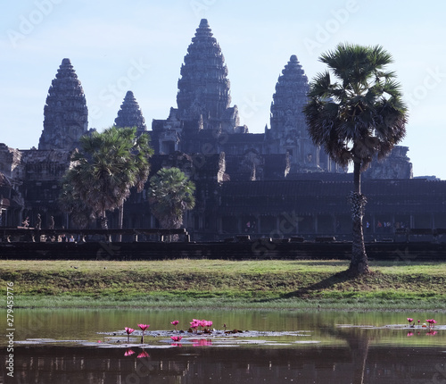 Landscape view of Angkor Wat , a temple complex in Siem Reap Cambodia