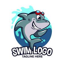 Shark Cartoon Logo Can Be Used...