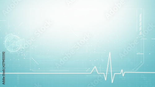 medical abstract background, medical digital symbol graphic background with copy Fototapet