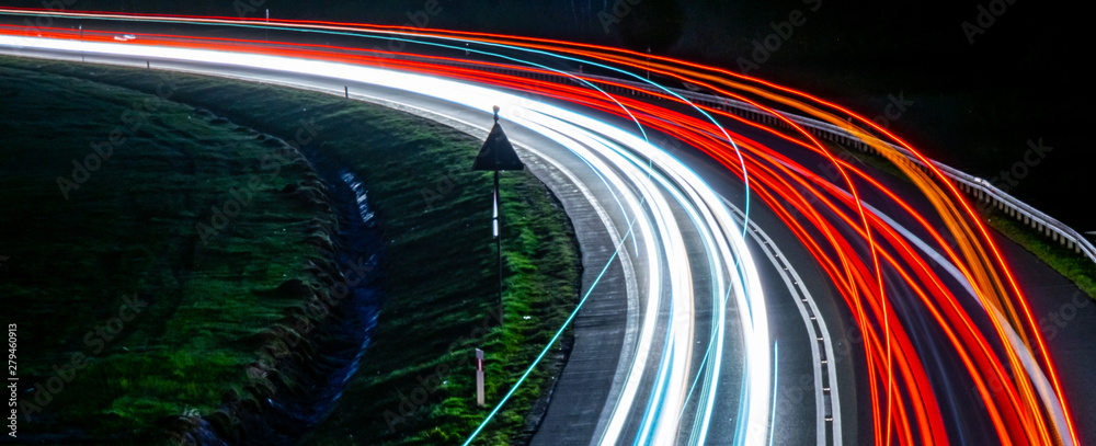 Fototapety, obrazy: lights of cars with night