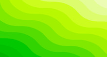 Abstract Green Gradient Waves Background