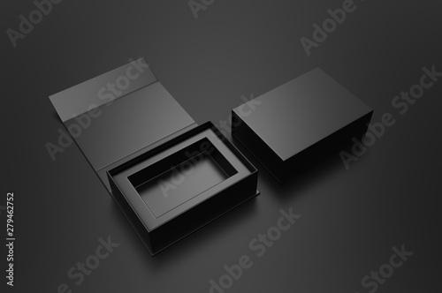 Blank folding box, 3d render illustration. Tapéta, Fotótapéta