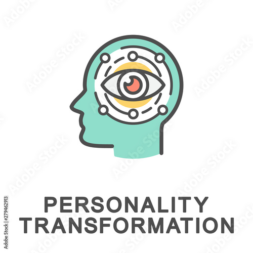 Fototapeta Icon personality transformation