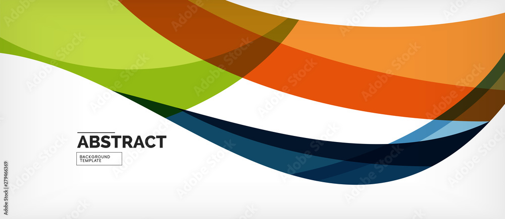 Fototapety, obrazy: Colorful wave lines abstract background, color line for business or techno presentation