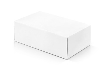 white paper box for products design mock-up