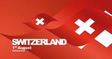Switzerland National Day Flag ...