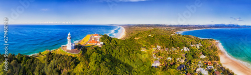Fotografering D Byron Bay Lighthouse Close TOp pan