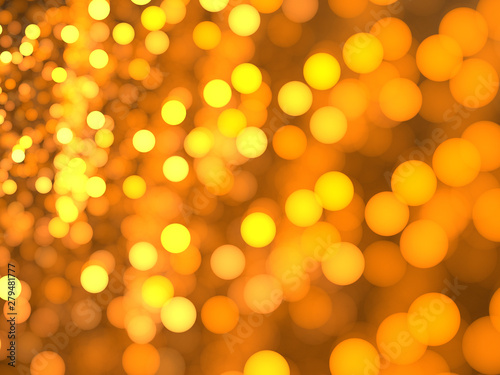 Abstract Illustration - Glowing Yellow Particles, soft shapes with blurred background. Magical fantasy background image, vibrant transparent glowing spots. Colored circles, digital modern artwork.
