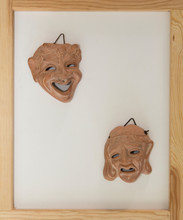 Tragedie And Comedy Masks Ancient Greek Style