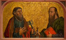 Saint Peter And Saint Paul In Cathedral Of Salamanca, From 1400, SPain