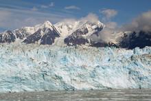 Blue Ice Face Of Hubbard Glacier In Disenchantment Bay, Alaska.