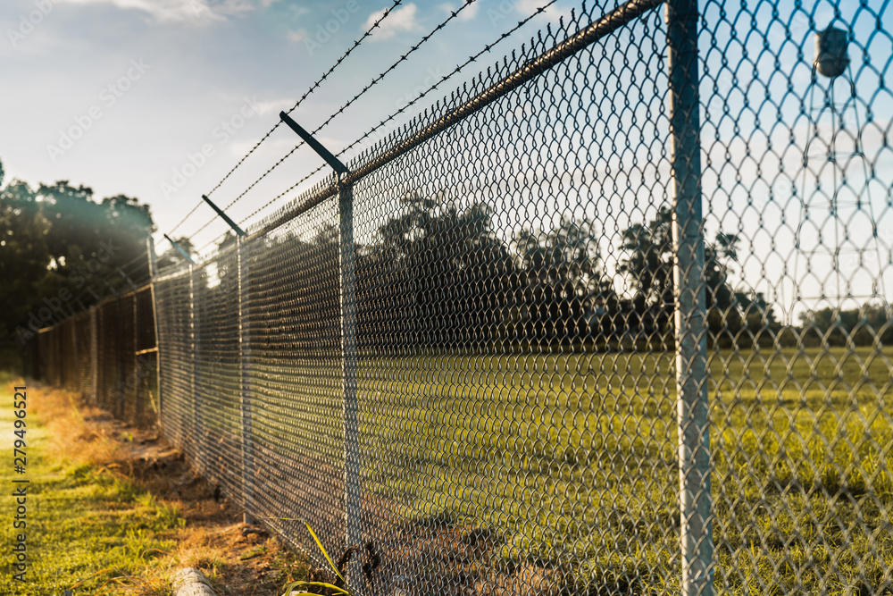 Fototapeta fence in the field