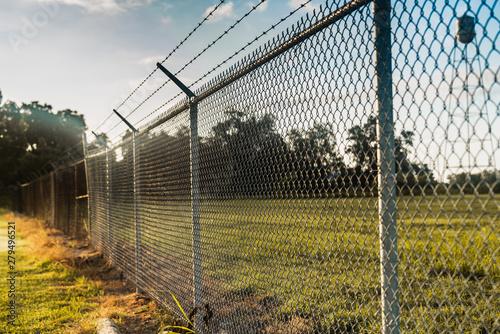 Fotografiet fence in the field