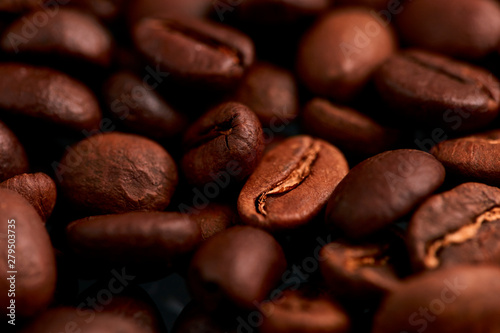 Fotografie, Obraz  Roasted coffee beans background
