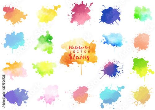 Fotografía  watercolor stains