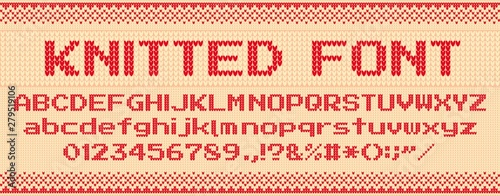 Knitted font фототапет