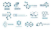 Hexagonal Molecule Badge. Mole...